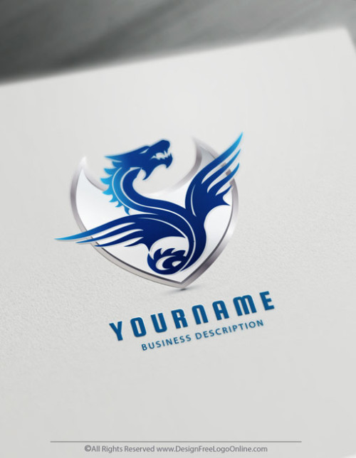 Create a logo with the best Free Blue Dragon Logo Maker.
