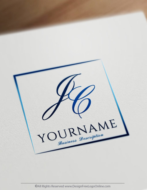 blue Letter Logos - Simple Logo Design - Best Monogram Maker