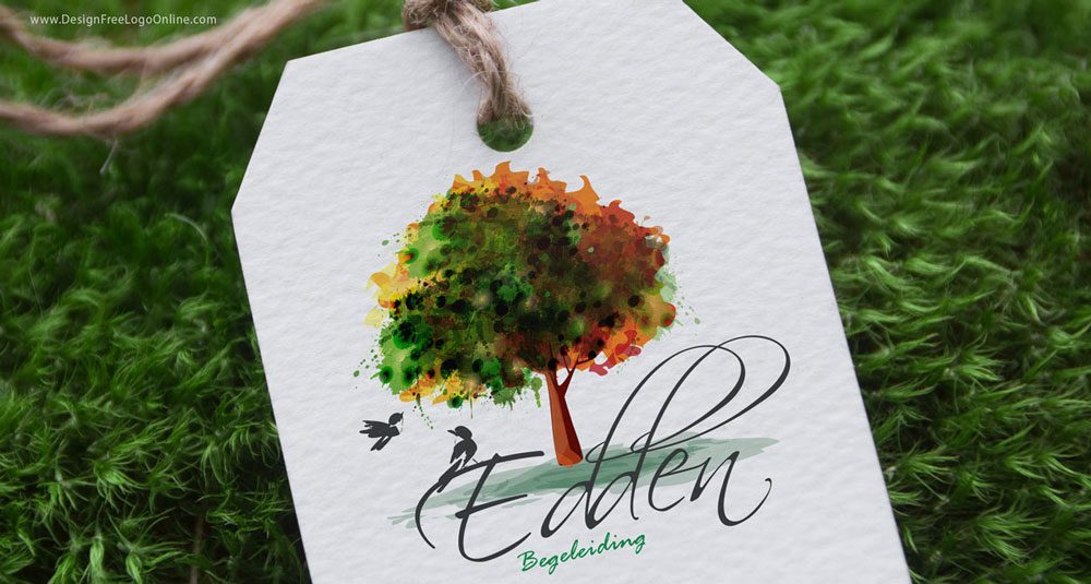 Custom Logo Design tree birds