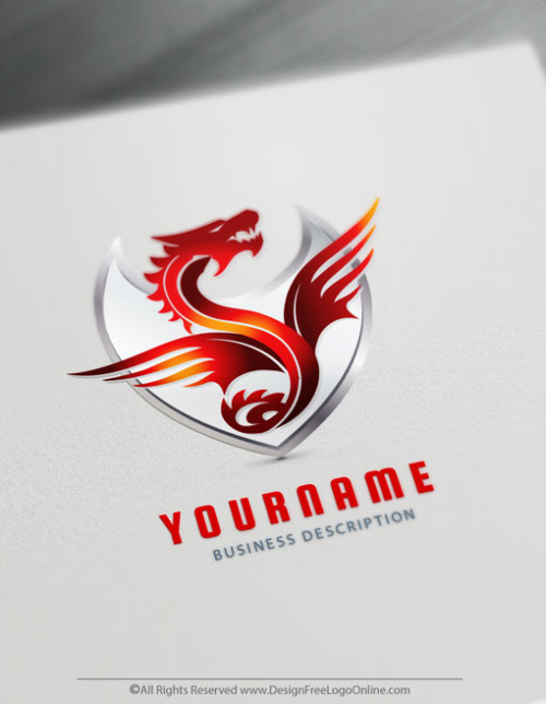 Fire Dragon Logo Creator
