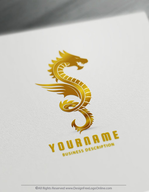 Create a Gold Dragon Tattoo with the best Dragon Logo Creator