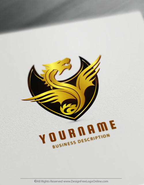 Create a logo with the best Free Dragon Logo Maker. Get your Gold Dragon Symbol today!