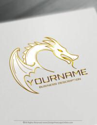 Gold dragon logo maker
