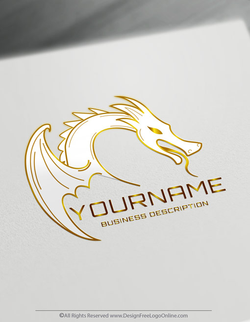 Gold dragon logo maker