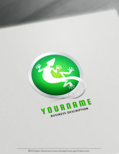 creative Green lizard logo Ideas. Create a logo with the best Free lizard Logo Maker. Try the Online Logo Designer free.