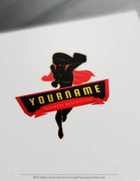 Sexy Superwoman logo maker