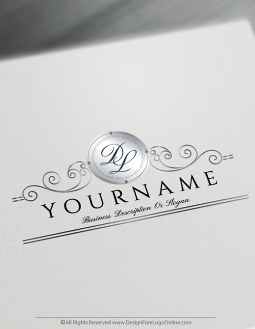 Silver Ornamental Letter Logo Design with the best Monogram Maker