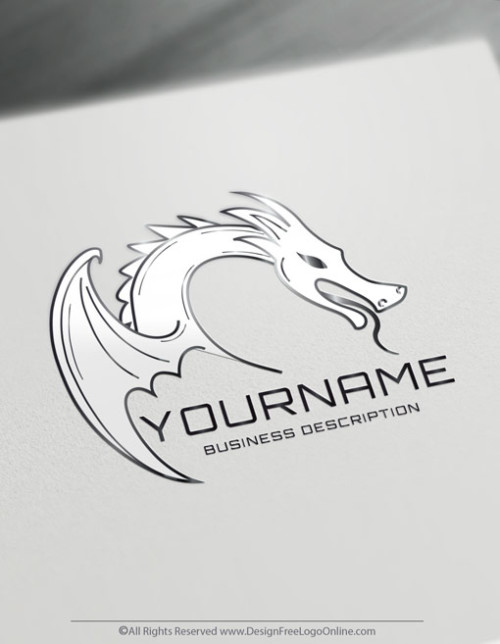 Silver dragon logo maker