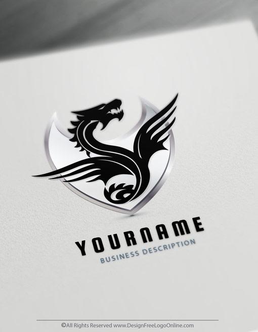 Tattoo Dragon Logo Maker