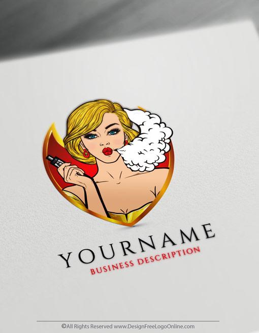 Easily create a logo with DesignFreeLogoOnline Vape Logo Maker