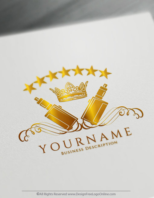 Gold Vintage Vaping Logos Vape Logo Maker