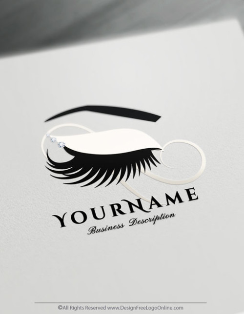 Create Eyelashes Logo with free logo design templates