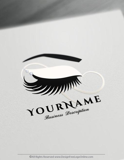 Create Eyelashes Logo with free logo design templates