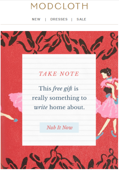 email from Modcloth