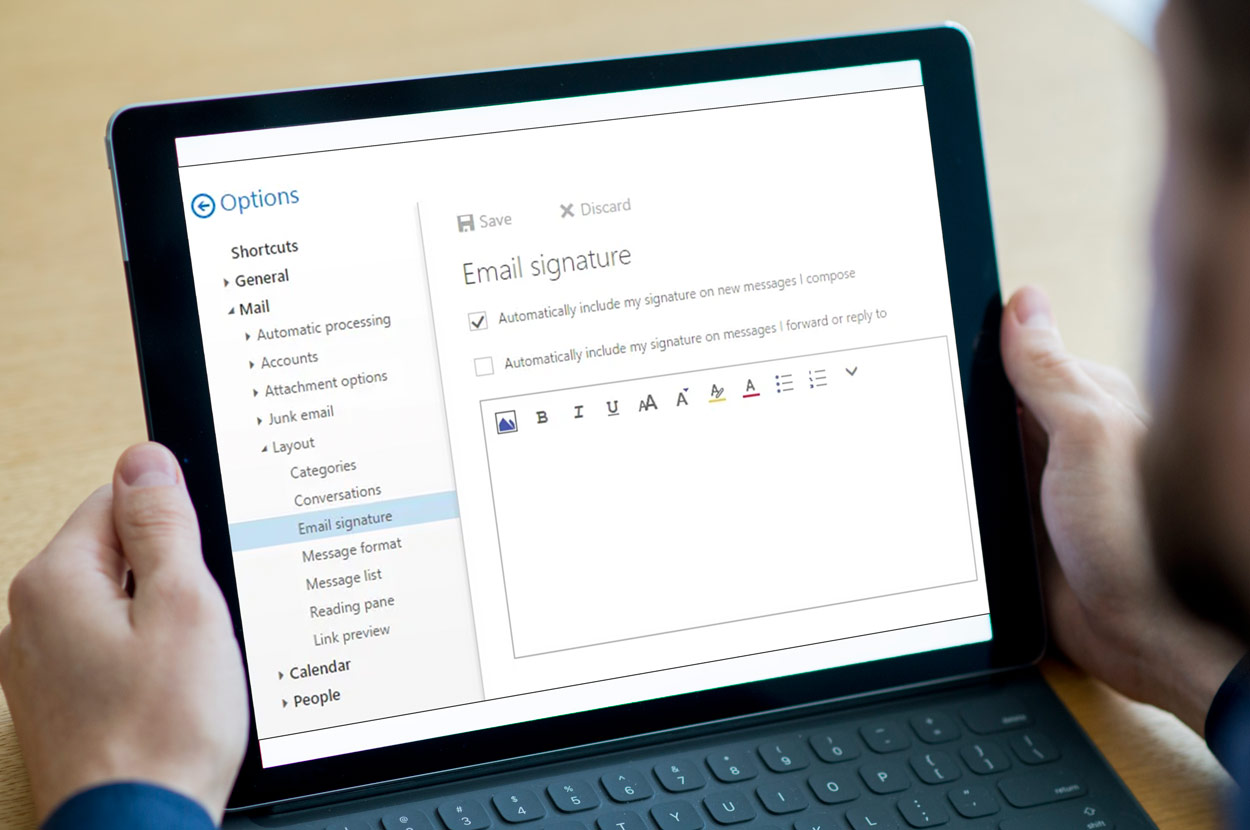 Hotmail Email signature