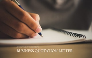 How to write an outstanding business quotation letter.