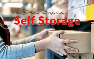 Things You Need To Know Before Renting Self Storage