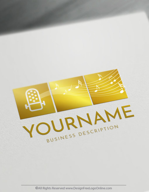 Create Art Logo Free - Sound Music Logo Templates