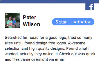 Facebook Review Design free logo online