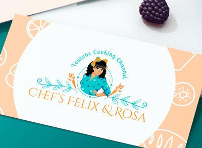 chef logo design custom made logo