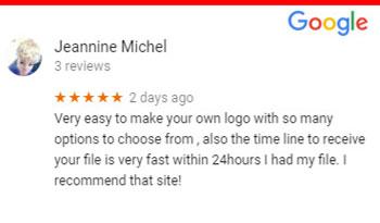 Design free logo online Google Reviews