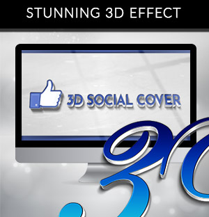 3D SOCIAL COVER With a special 3D Logo effect that stands out!