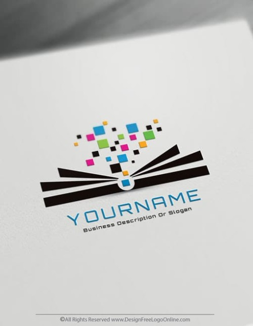 Create an education Logo For Free – Digital Book Logo Design Template