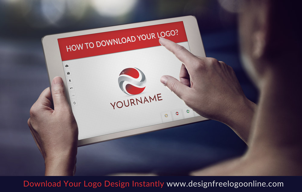 Follow the instructions to download your logo right away
