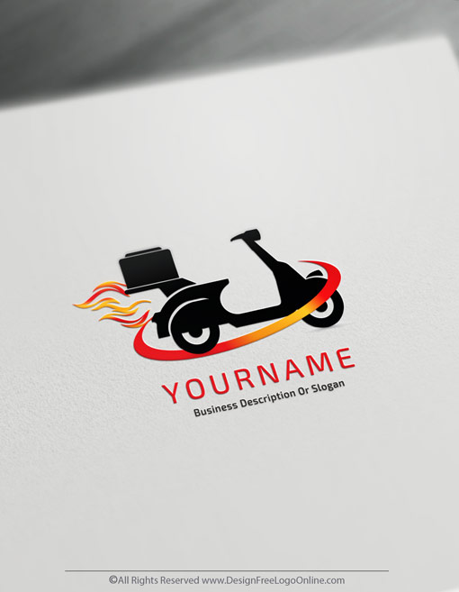Create Delivery Logo For Free with the Scooter Courier Logo Template