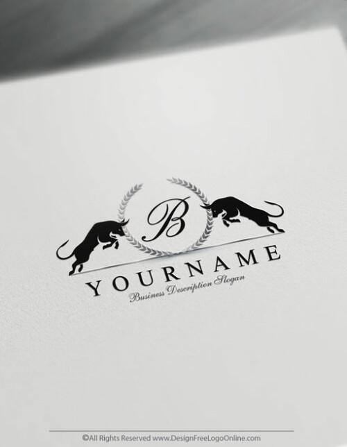 vintage crest Black bulls image