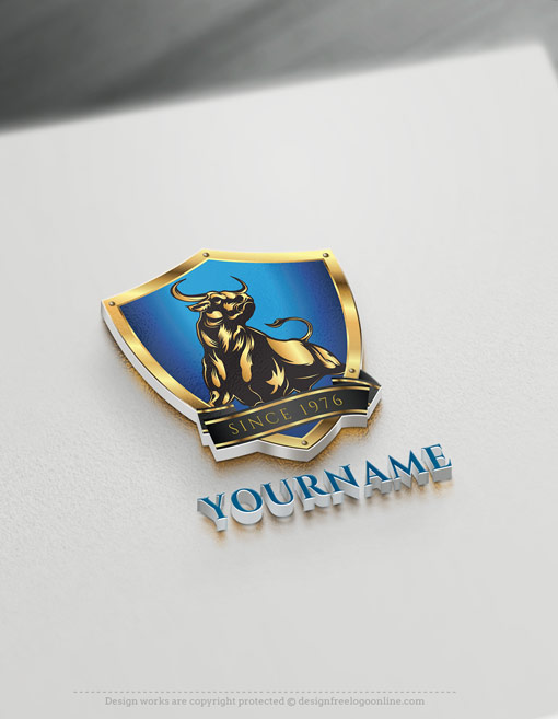 Make Logos For Free With Our Powerful Bull Logo Maker