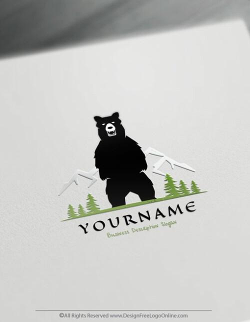 Make a Logo For Free Our Powerful Wild Bear Logo Maker