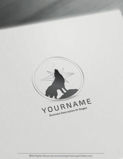 Make Logos of grey and black Wolves