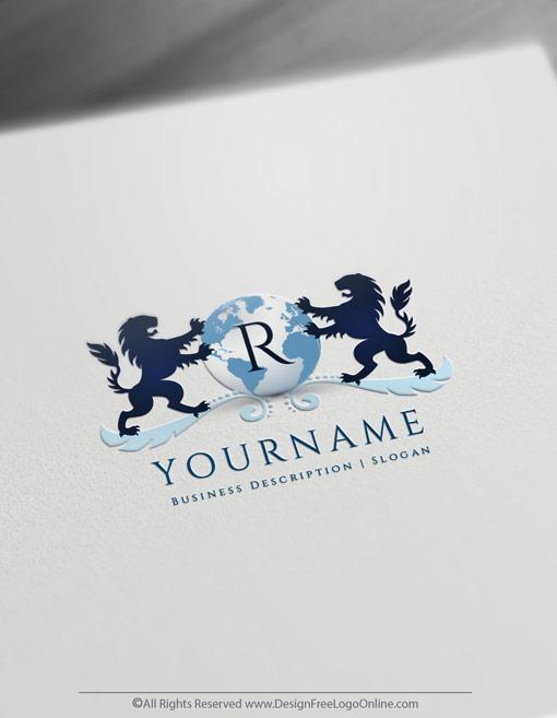 Make your own Alphabet Lion Logo Template online using the best globe logo creator