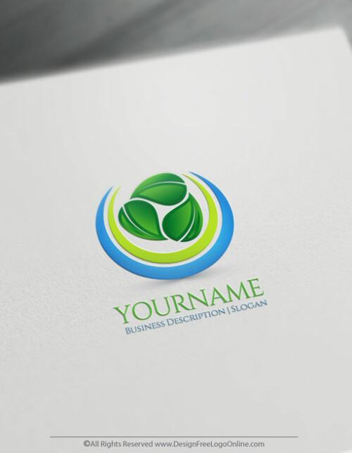 Energy Spiral Leaves Logo Template - Free Logo Maker