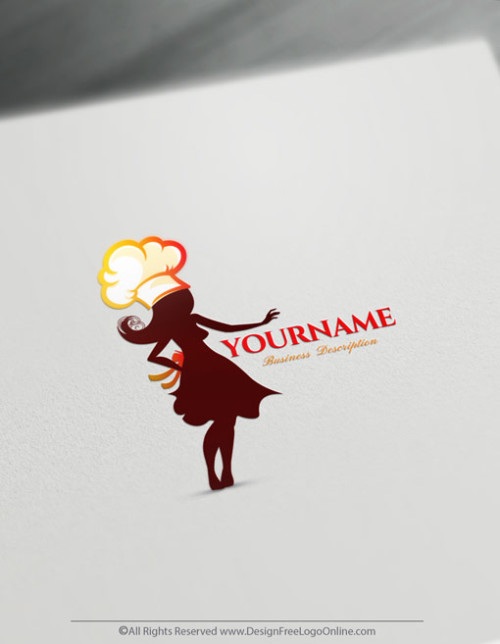 Make a food logo for free without registration! Instantly create a brand with the Female Chef Logo Maker Online Free. Download your logo now