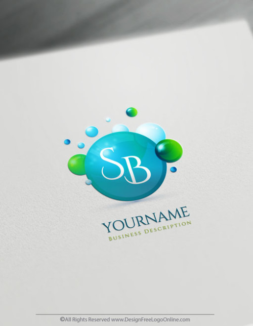 cleaning Bubbles logo maker