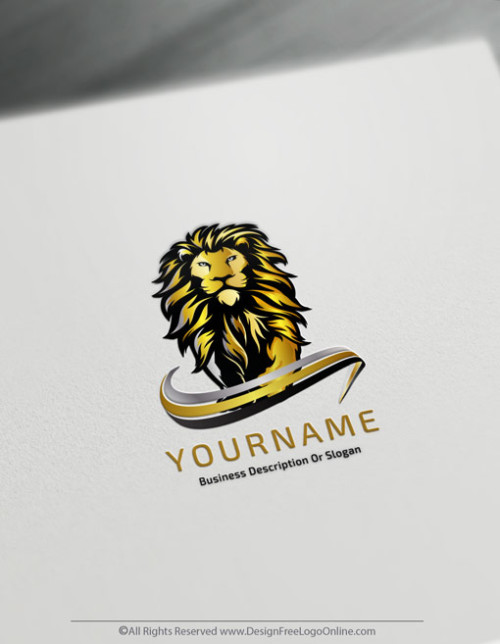 Modern Lion Logo Maker