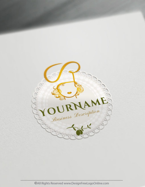 Make a Female Chef logo for free without registration