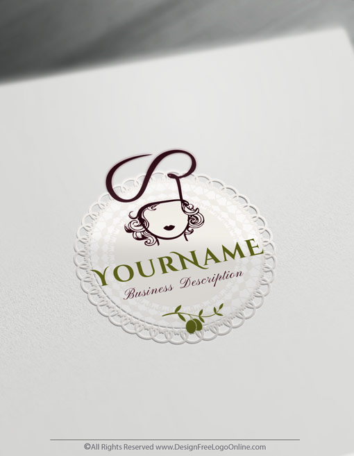 feminine Chef logotype Woman cook logo