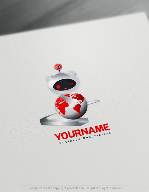 Red Robot Logo Maker