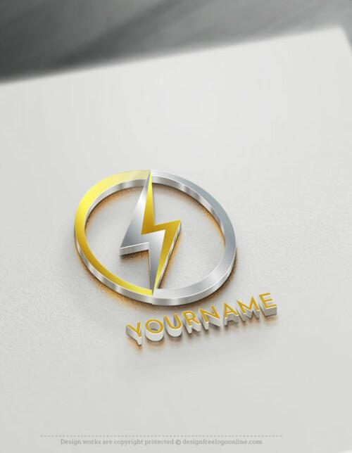 electrical logo branding design templates