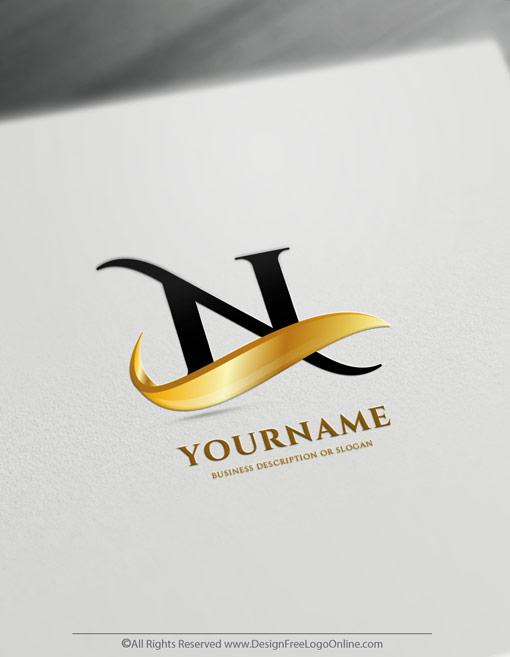 Golden 3D logo maker