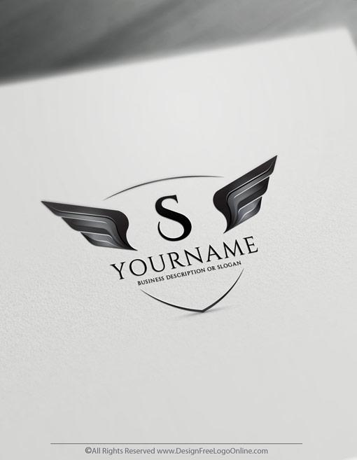 black wings logo maker