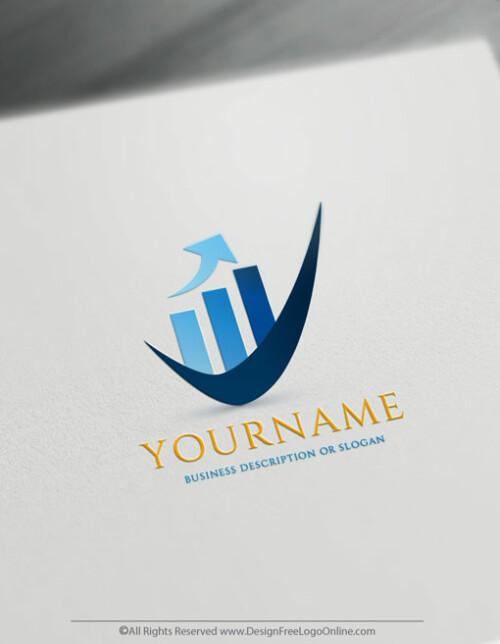 customize your new blue financial logo branding