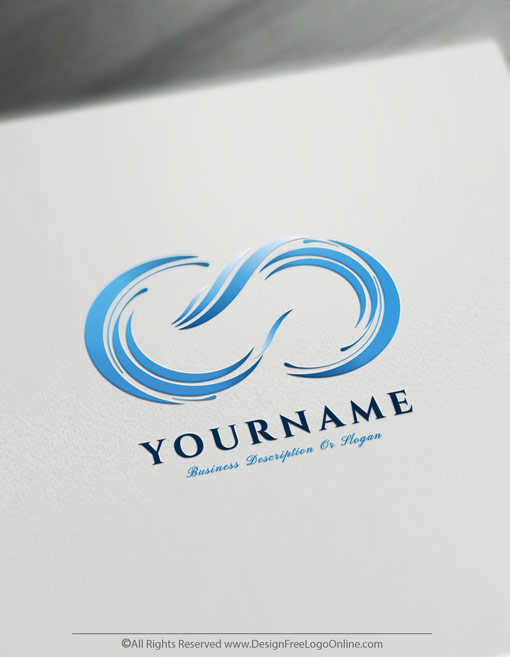 Instantly customize your new aqua infinity wave logo