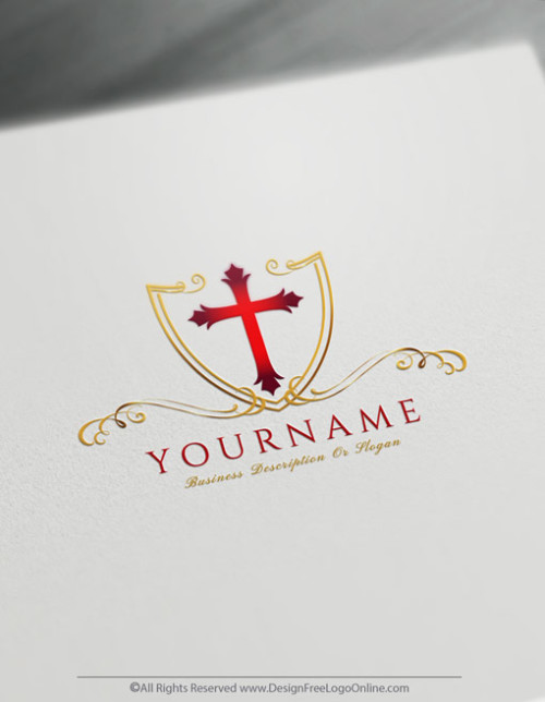 customize your new red church logo