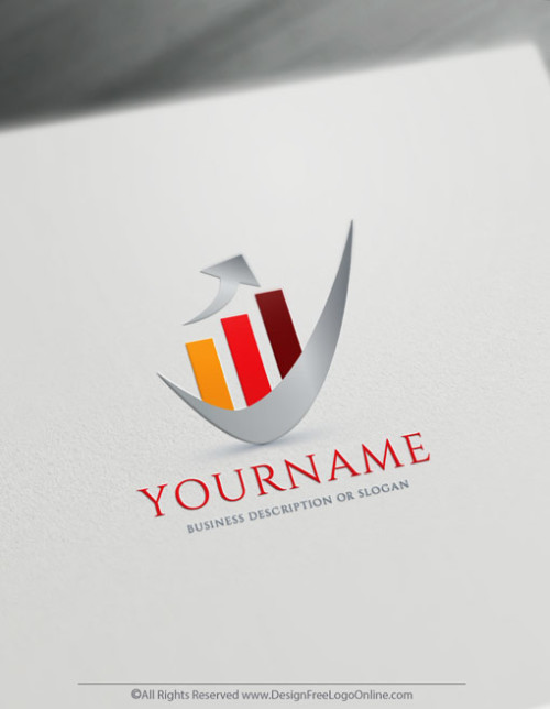 customize your new red financial logo branding