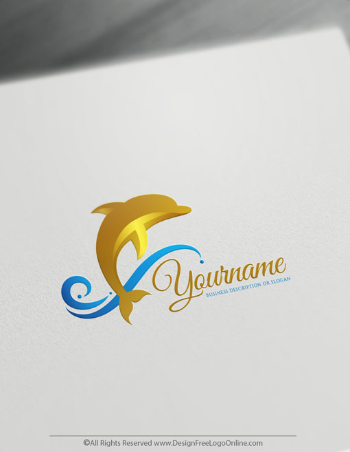Instantly build a brand without registration. Use the free online logo build new golden dolphin logo ideas.