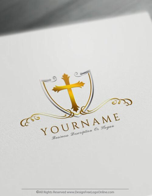 gold logo of churche